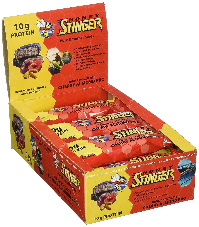 Honey Stinger Food Cherry/Almond Protein Bar (Box of 15)