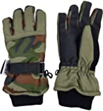 N'Ice Caps Kids Cold Weather Waterproof Camo Print Thinsulate Ski Gloves