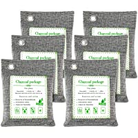 FOYO Bharcoal Bags Odor Absorber Bamboo Charcoal Air Purifying Bag(6 Pack) Activated Charcoal Odor Absorber Moisture…
