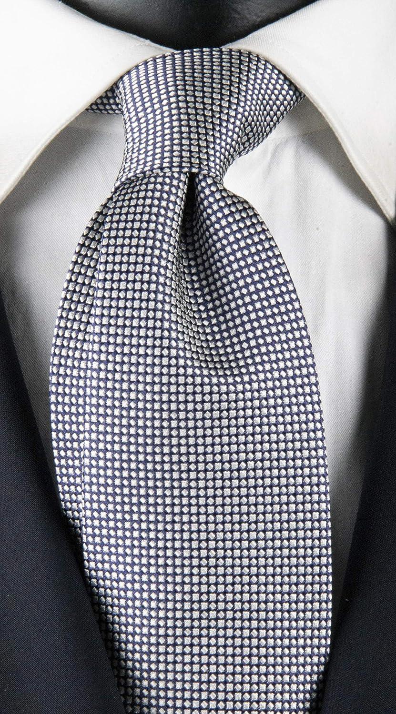Corbata de hombre con micro fantasía azul y plata Exclusive Texture: Amazon.es: Ropa y accesorios