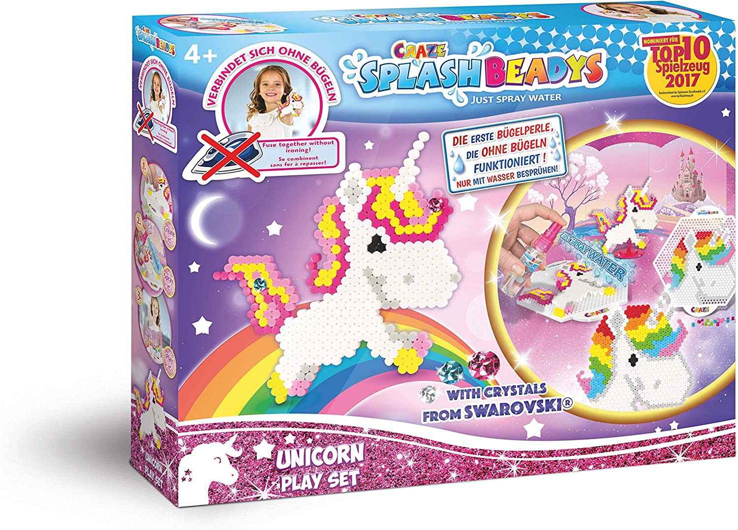 CRAZE- Cuentas de fusibles Fuse Splash BEADYS Unicorn Play-Set Water Beads Craft Kit para niños 58467, Multicolor: Amazon.es: Juguetes y juegos