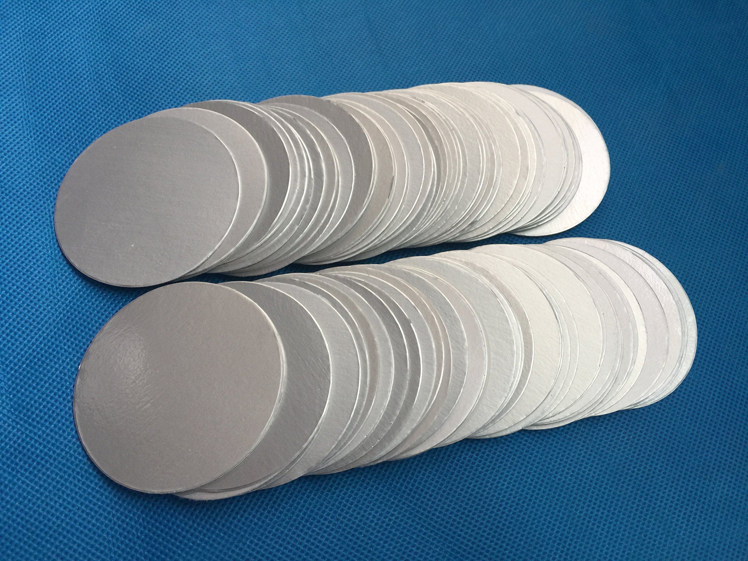 Uuni-WT HDPE bottle cap 55mm plactic laminated aluminum foil lid liners (5000PCS) by Bonny&T (Image #1)