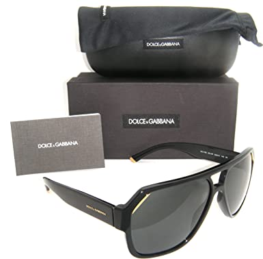 06a8a323adbe Image Unavailable. Image not available for. Colour: Authentic Dolce &  Gabbana Shiny Black Frame / Grey Lens DG 4138 ...