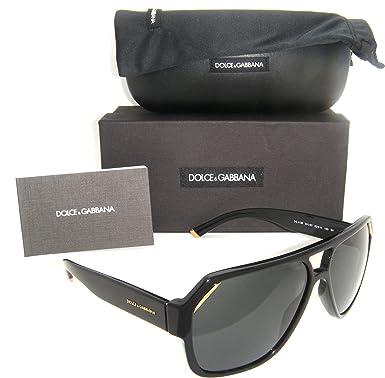 619837a3b409 Authentic Dolce   Gabbana Shiny Black Frame   Grey Lens DG 4138 501 ...