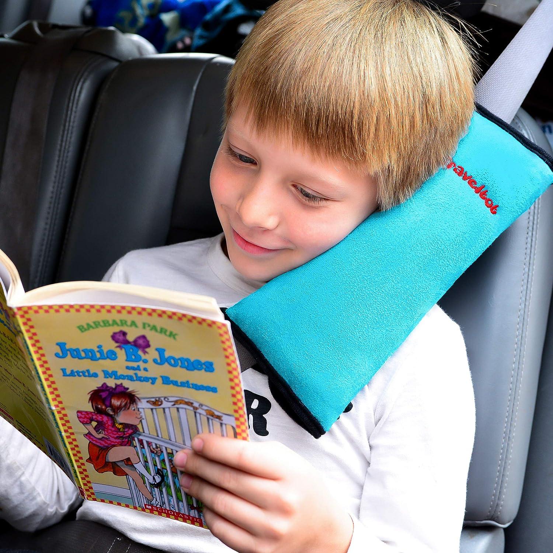 Travel Neck Pillow, KiraKira Seat Belt Pad for Children Car Sleeping Pillow