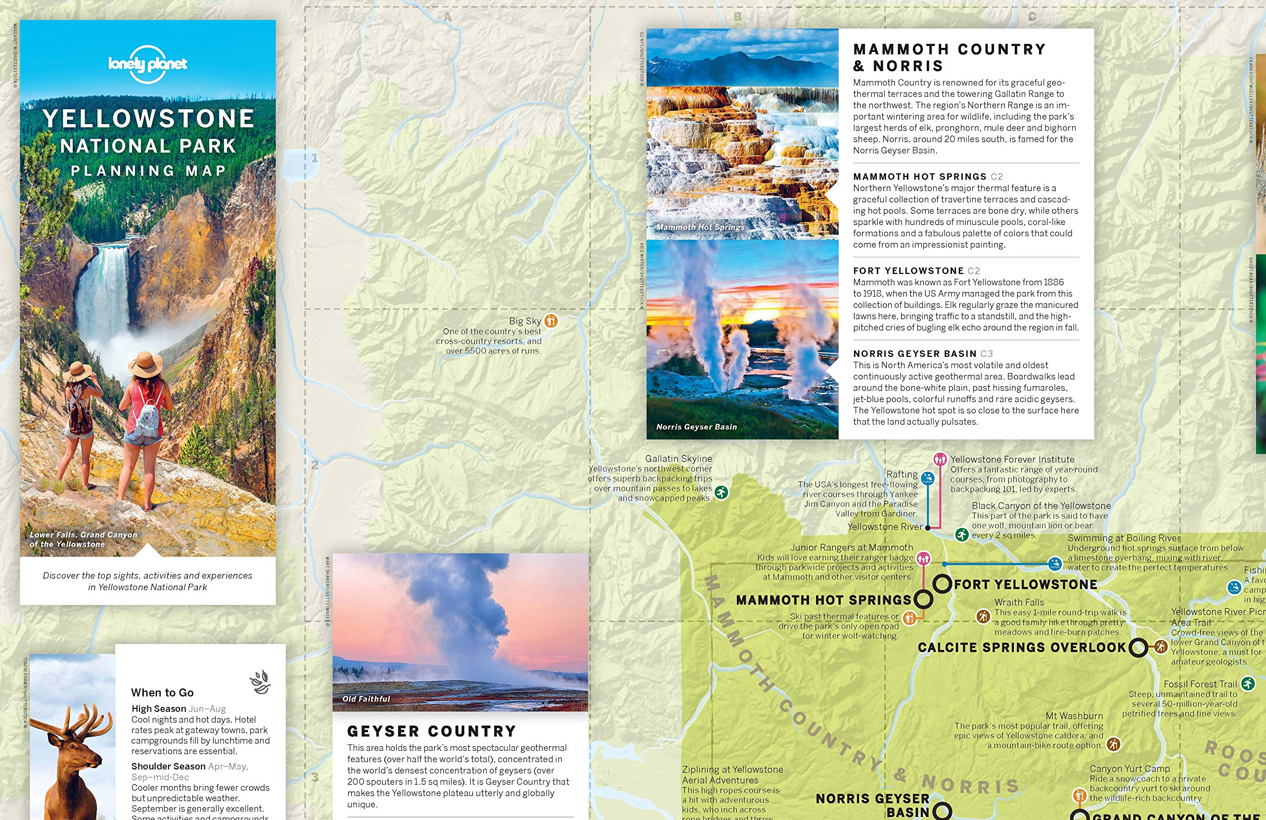 Lonely Planet Yellowstone National Park Planning Map: Amazon