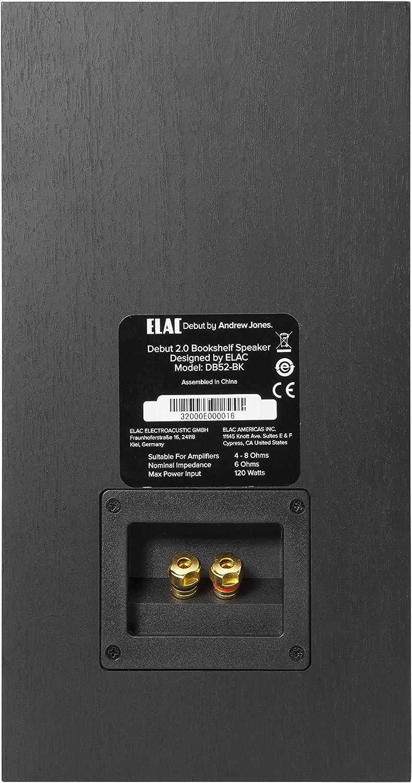 Elac Debut B5 2 Regal Lautsprecher Schwarz Dekor Audio Hifi