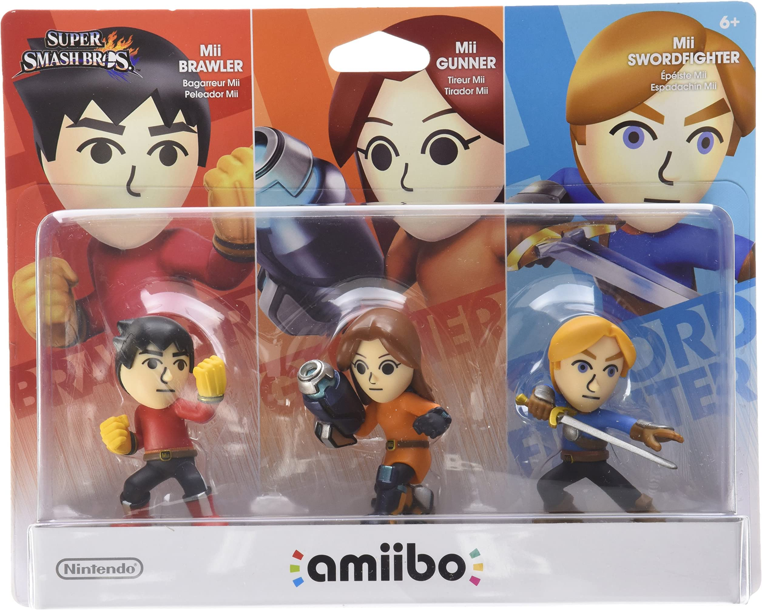 Amazon com: Mii 3-pack - Brawler, Gunner, Swordfighter