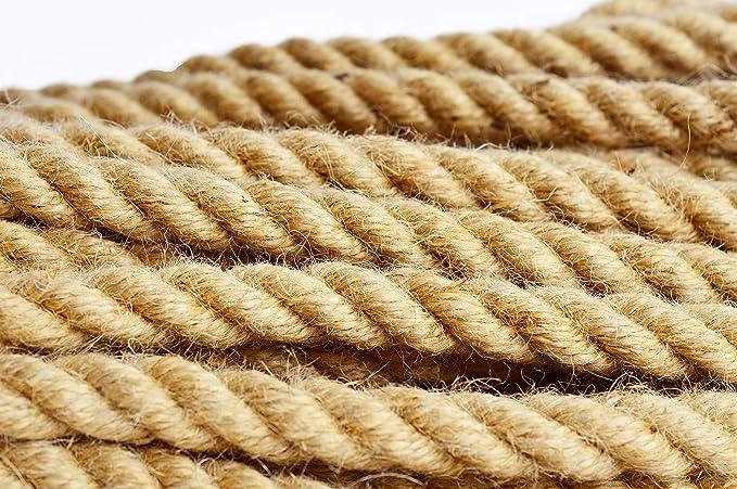 corde multiusage en sisal Roban Fashion/® Corde de jute 100 /% naturelle 6 mm 60 mm Corde de chanvre corde de plong/ée d/écoration de jardin rampe danimaux domestiques