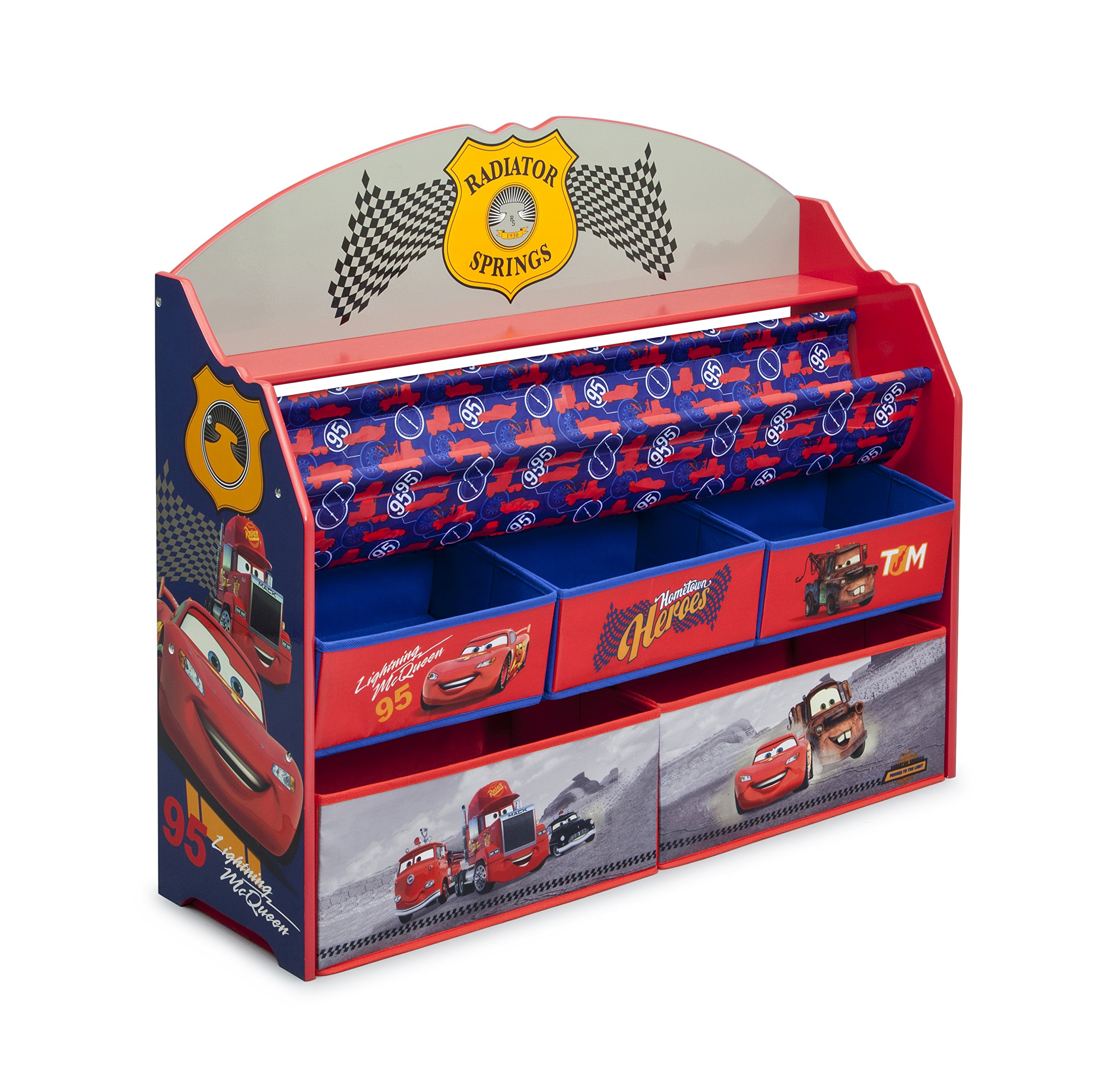 Delta Children Deluxe Book & Toy Organizer, Disney/Pixar Cars