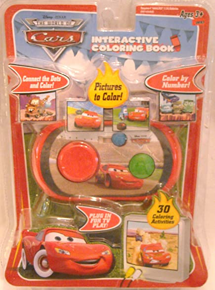 Disney Pixar The World Of Cars Interactive Coloring Book