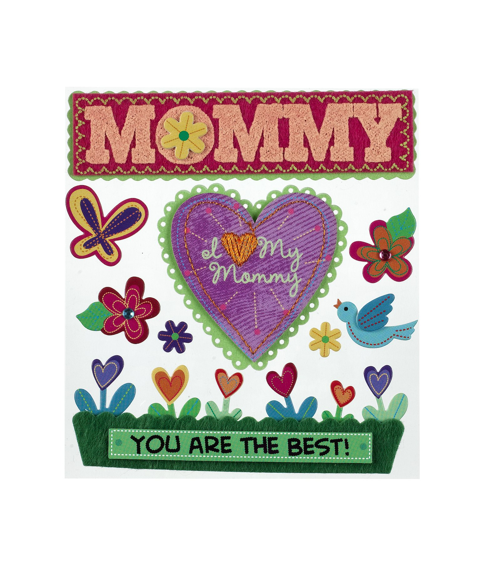 Jolee's Boutique Dimensional Stickers, I Love You Mommy by Jolee's Boutique (Image #1)