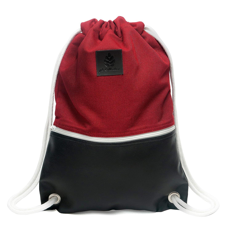 耐久性のあるコットンキャンバスとビーガンレザー、Marineblau-Hellblauで作られたインナーポケット付き男性と女性のためのPinebuy Hipsterキャンバスジムキャンバスジムジムバッグスポーツバッグバッグバッグ   B07HZ6FLZ2