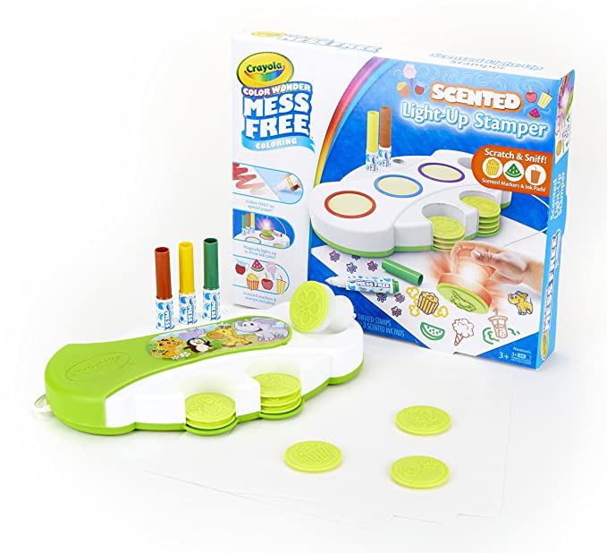 Crayola Color Wonder Light Up Stamper with Scented Inks, Gift for Kids, Ages 3, 4, 5, 6