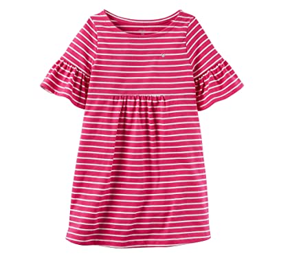 a44ce30ebc50 Amazon.com  Carter s Girls  2T-8 Short Sleeve Striped Dress  Clothing