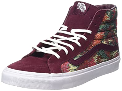 b251d361477 Image Unavailable. Image not available for. Color  Vans SK8-Hi Slim Italian  Weave Port Royale Multi Skate Shoes