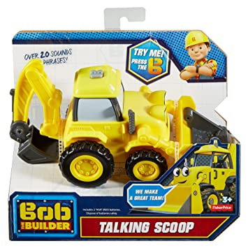 Amazon fisher price bob the builder talking scoop toys games fisher price bob the builder talking scoop sciox Images