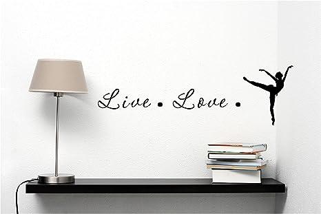 Vivir Amor baile vinilo mate negro decoración de vinilo adhesivo para ordenador portátil