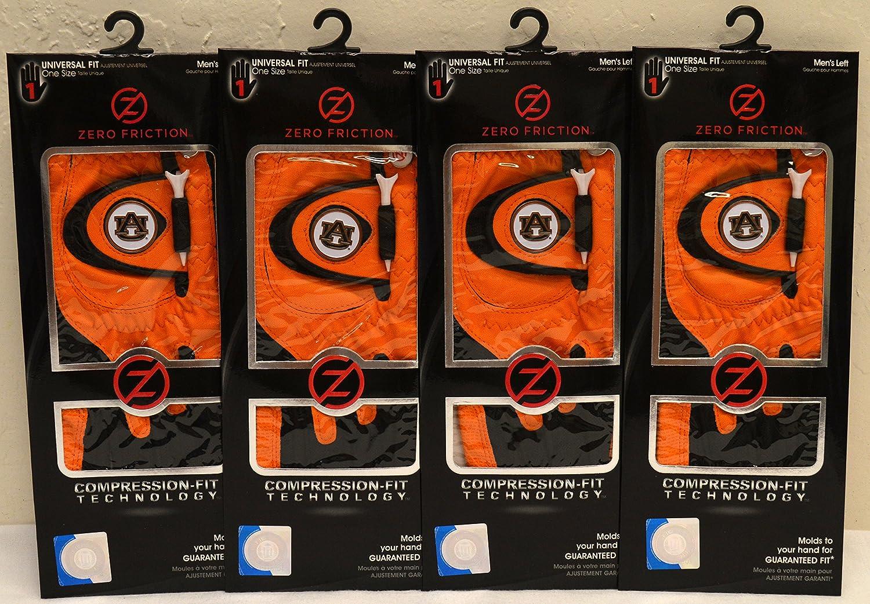 4ゼロ摩擦メンズLeft Handユニバーサルゴルフグローブ – オーバーン – オレンジ   B0799RGYCM