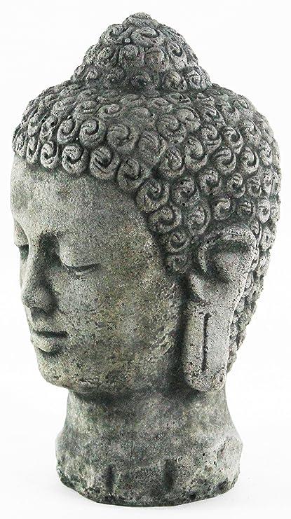 Buddha Head Concrete Garden Statue