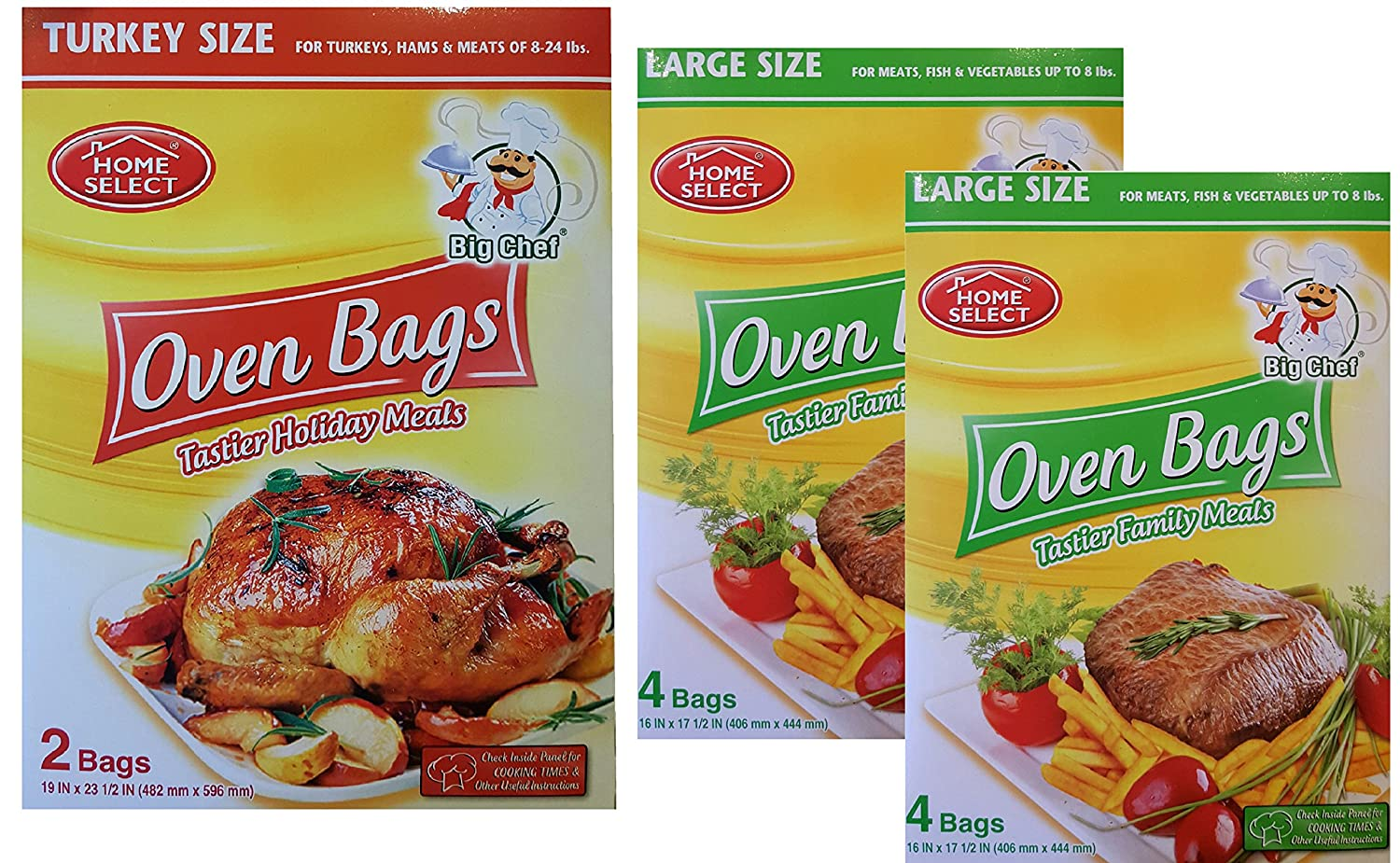 Large Oven Baking Bags for Cooking - Turkey and Roaster Size