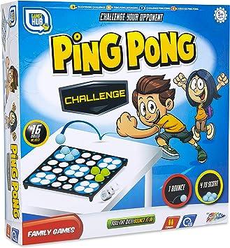Games Hub Juego de Ping Pong de reto Multicolor: Amazon.es: Juguetes y juegos