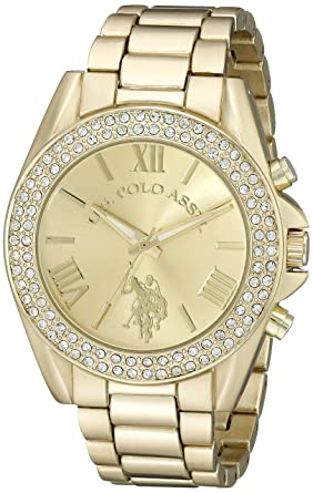 U.S. Polo Assn. Womens USC40036 Gold-Tone Watch