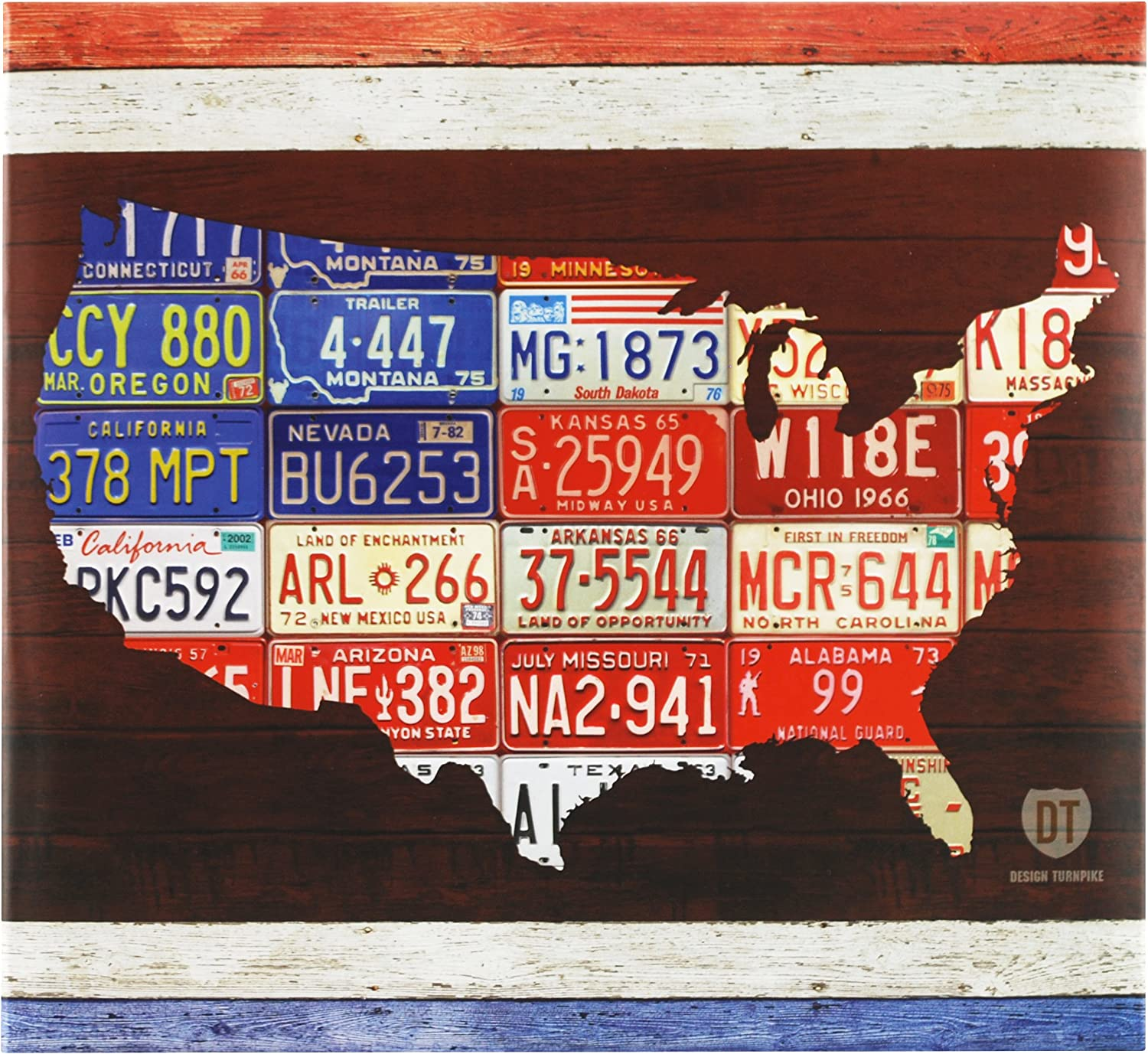 MCS MBI 13.5x12.5 Inch Americana Collection Scrapbook Album with 12x12 Inch Pages, American License Plate Theme (860095)