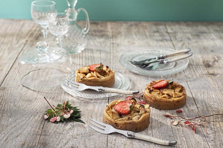 Laguiole Style de Vie Dessertgabeln Premium Line 6-teilig Perle Style de Vie Authentique