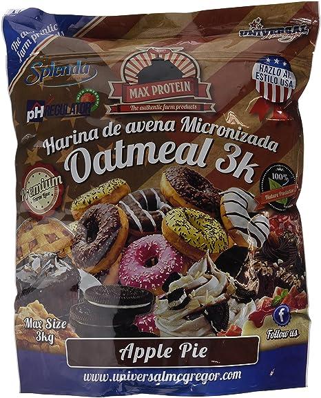 Max Protein Oatmeal Harina de Avena, Termo-Activada - 3000 gr