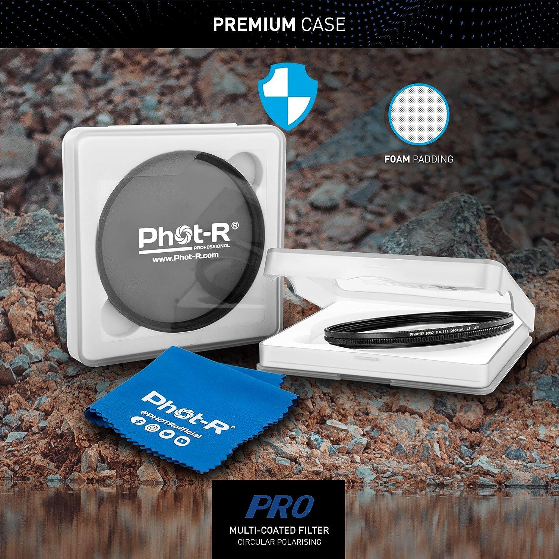 Microfibre Cloth Phot-R 46mm PRO Multi-Layer UV Digital Filter Multi-Coated Ultraviolet Ultra Slim Screw In Filter Ultraviolet Protection Anti-Scratch Anti-Dust Water Repellent DSLR Camera Filter