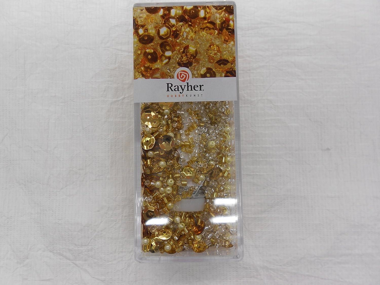Rayher Hobby RAYHER 14538606 Pailletten-,Glasperlenmix und Draht, 80 ...