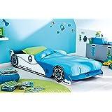 Autobett Leon inkl. Rollrost 90*200 cm Kinderbett Autorennbett Rennautobett Jugendbett Jugendliege Bettliege Bett Einzelbett Kinderzimmer