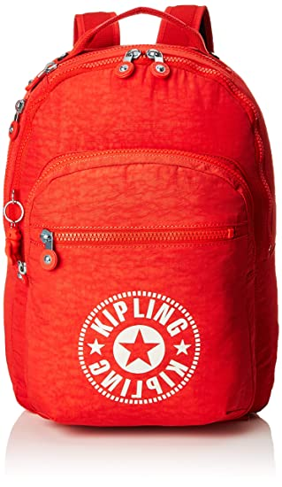 9887cde1a Kipling CLAS SEOUL Mochila escolar, 45 cm, 25 liters, Rojo (Active Red NC):  Amazon.es: Equipaje