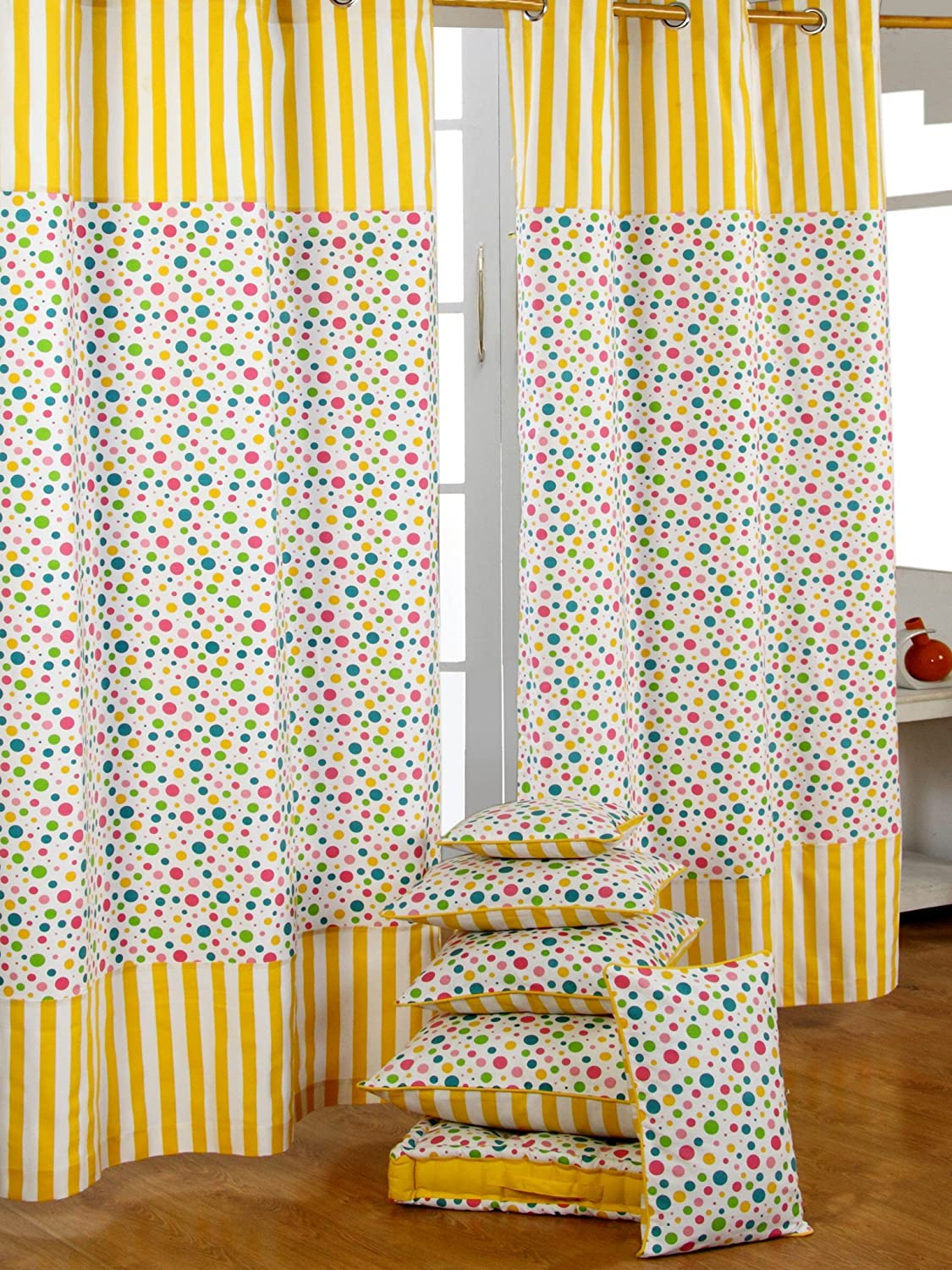 dp window cotton home pocket inch road of gray set kitchen zshl panels whitestone branches by dkny waj amazon floral white grey co uk curtains