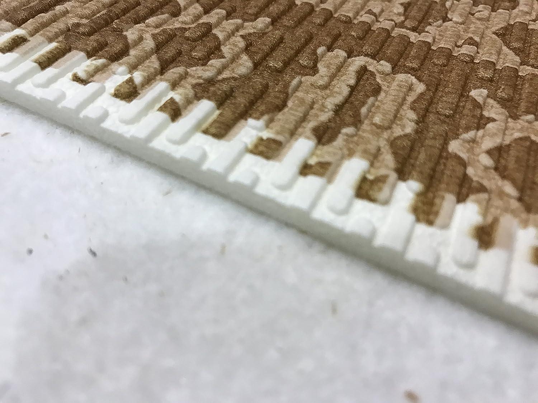 Tappeto cucina a metraggio pvc largo beige puzzle piastrella
