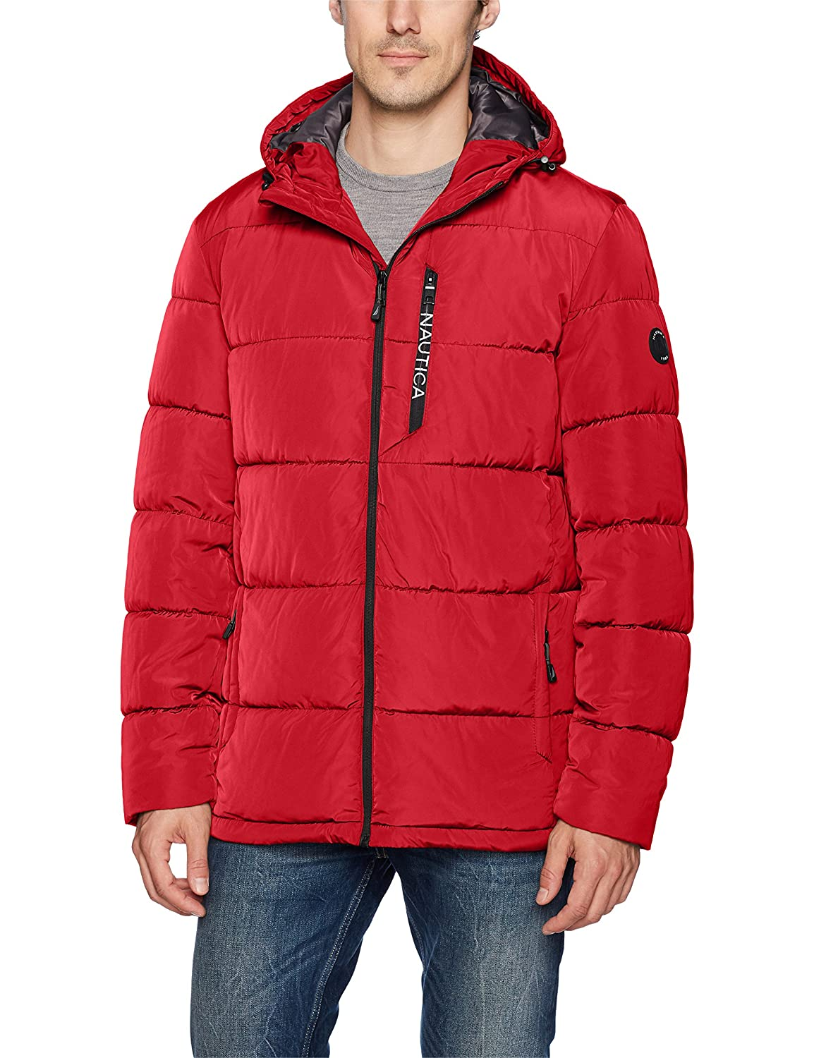 Nautica Men's Quilted Hooded Parka Jacket Nautica Men's Outerwear NV620252