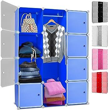 Kleiderschrank DIY Schrank Regalsystem Steckregal Garderobe Schuhregal 9 Boxen