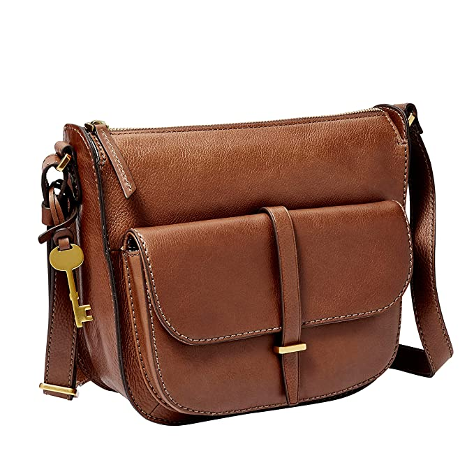 Amazon.com: Fossil Ryder Crossbody Bolsa café, Marrón, talla ...