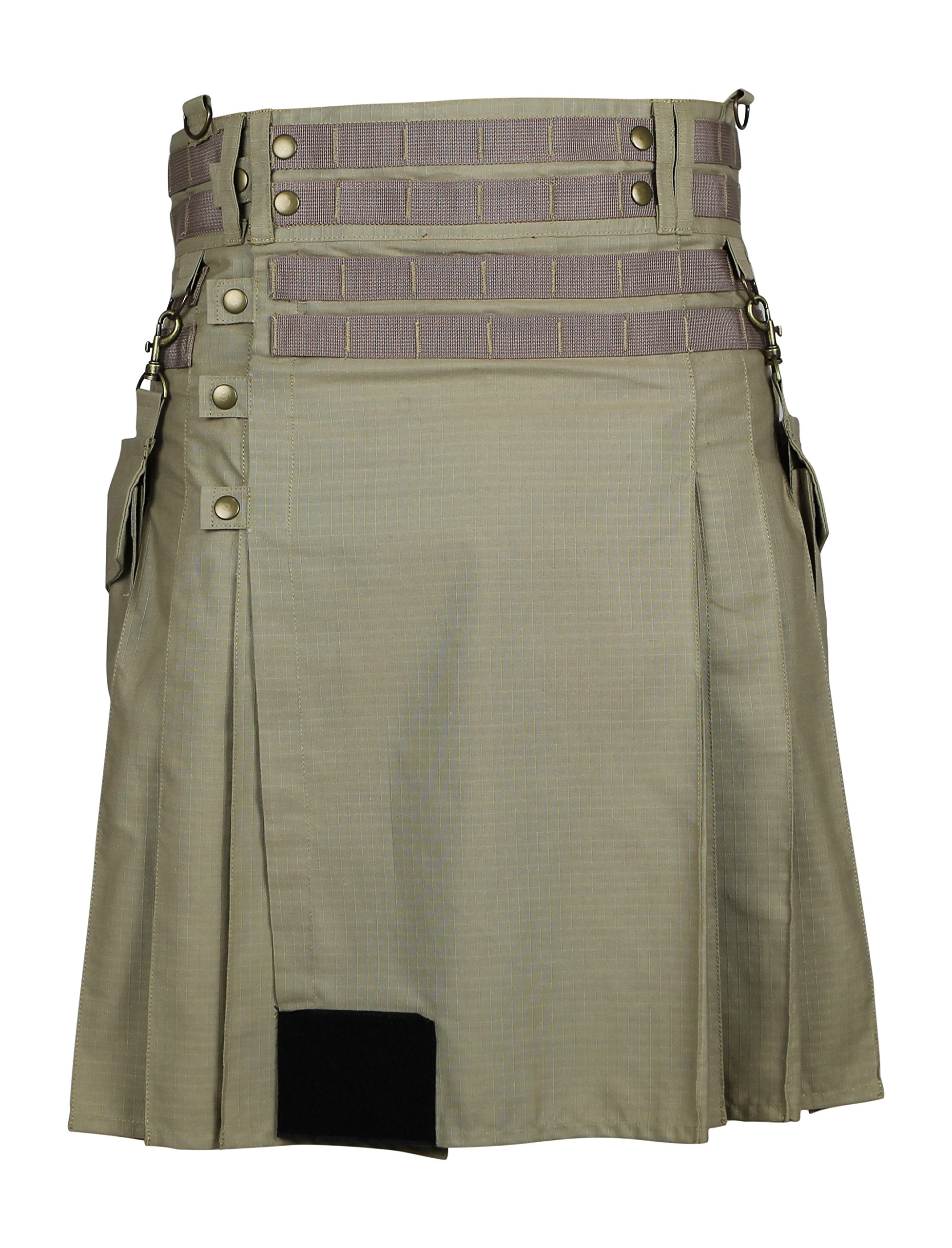 Damn Near Kilt 'Em Men's Tactical Kilt X-Large Khaki