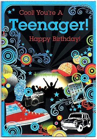 Birthday Card Teenage Thirteen 13 Year Old Boy