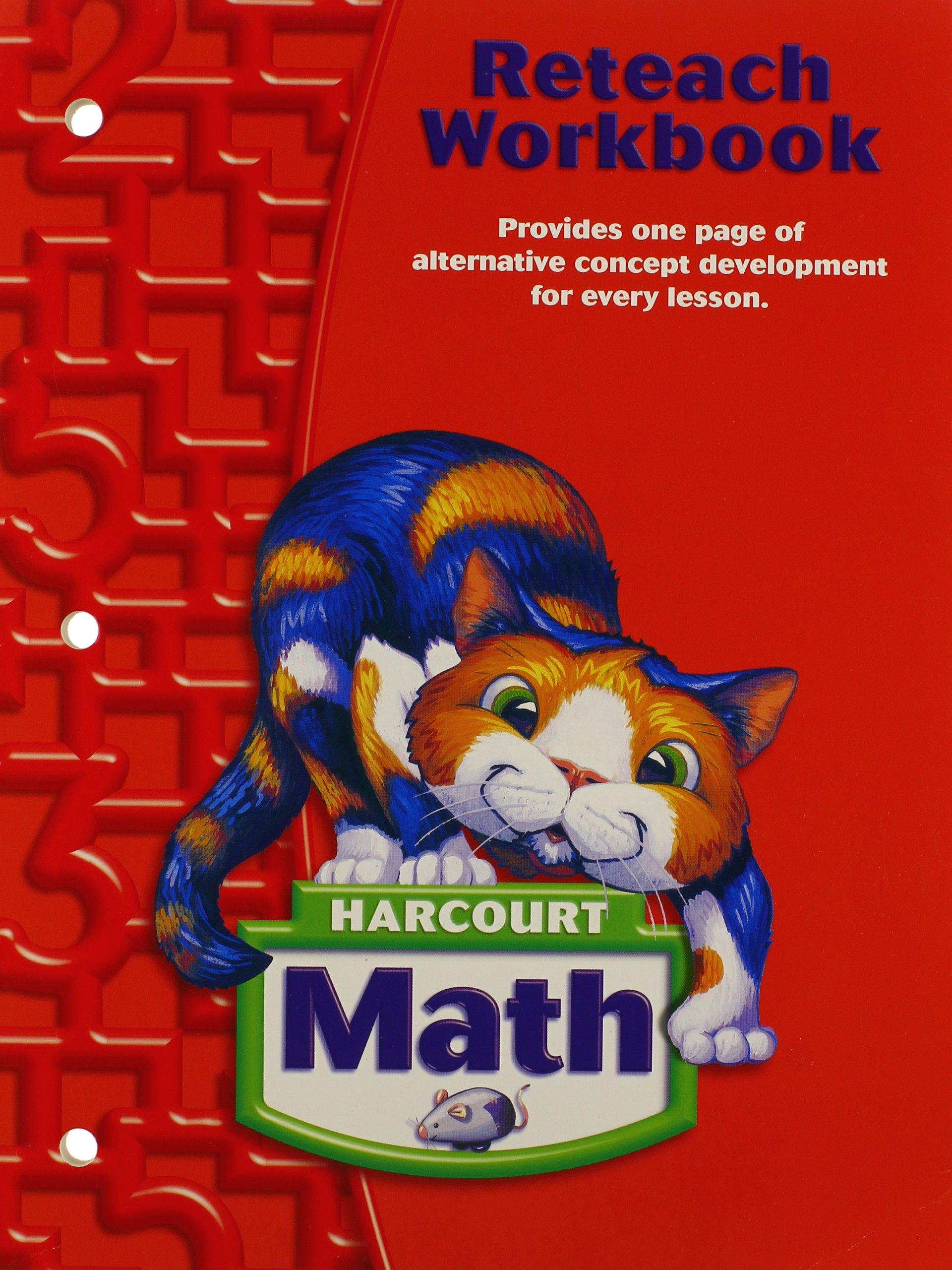 Harcourt Math: Reteach Workbook Grade 2: HARCOURT SCHOOL PUBLISHERS:  9780153364884: Amazon.com: Books