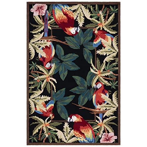 Safavieh Chelsea Collection HK296A Hand-Hooked Black Premium Wool Area Rug 2 6 x 4
