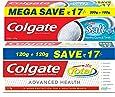 Colgate Toothpaste Variety Pack (Total Advanced Health Saver Pack - 240 g, Colgate Active Salt Saver Pack - 300 g)