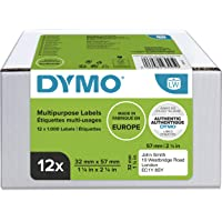 DYMO Authentic LW Multi-Purpose Labels, 32mm x 57mm, 12 Rolls of 1, 000 Easy-Peel Labels (12, 000 Count), Self-Adhesive…