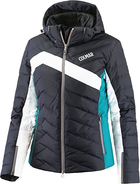 Colmar Women's Ski Jacket, blue blackwhitemineral green