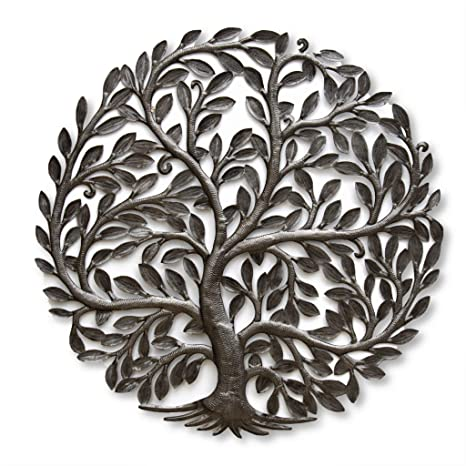 Amazon Com Large 33 In X 33 In Haitian Metal Family Tree