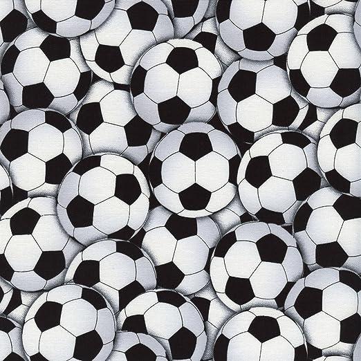 Fútbol Tela – 0,5 Metre – TT119 – balones de fútbol blanco y negro ...