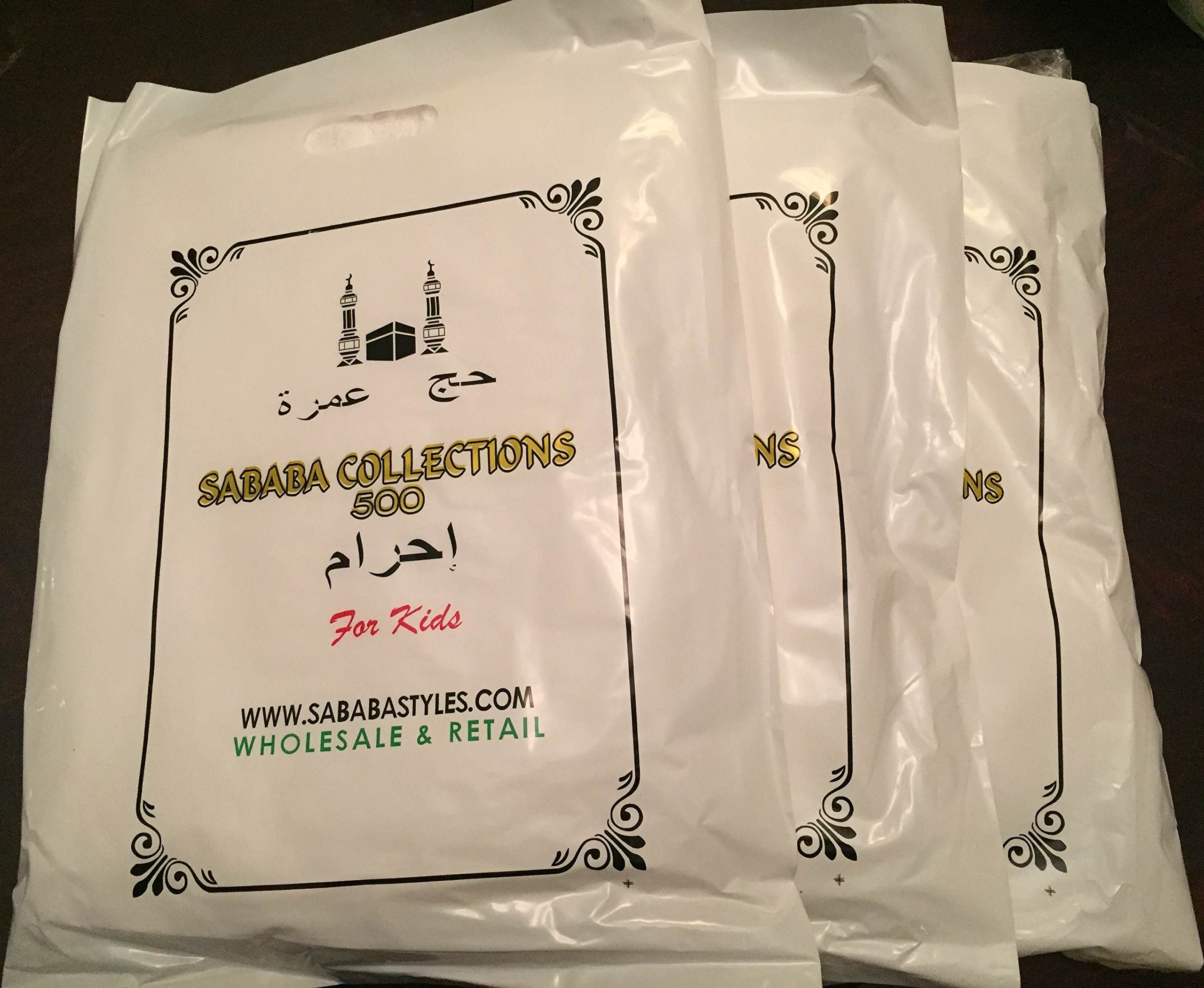 10 SET LOT SALE-Ihram for kids 2 PCS OF WHITE TOWEL CLOTH/SOFT/ABSORBENT/GOOD QUALITY/HAJJ AND UMRAH (60''x30'') wt 500 gms/10 PCS BUNDLE SOLD AND SHIPPED BY SHERIFFSONCORP. CONTACT FOR WHOLESALE