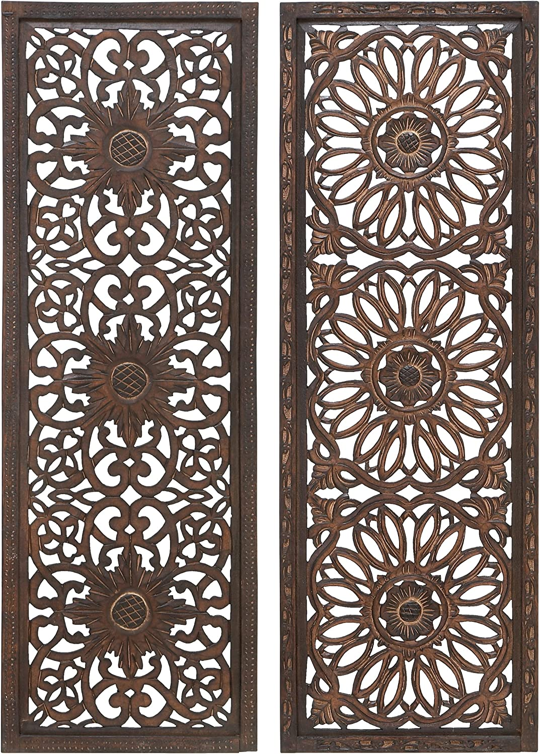 Deco 79 Set of 2 Wooden Wall Panels